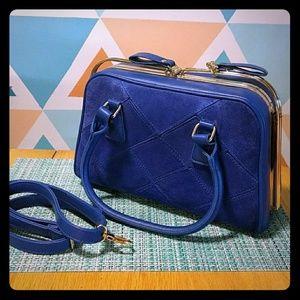 Handbags - Blue Faux Leather Purse