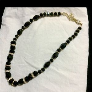 Jewelry - Beaded black and gold necklace