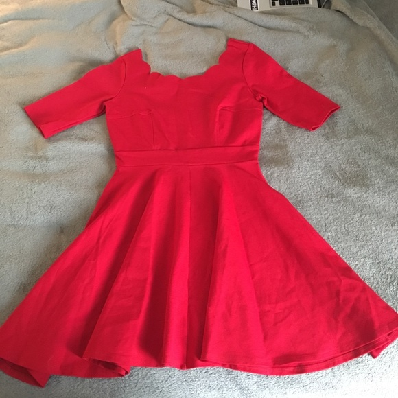 7804b00cc74 Lulus dresses lulus exclusive tip the scallops red dress poshmark jpg  580x580 Lulus red scalloped romper