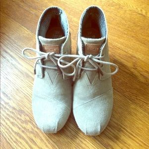 TOMS Shoes - TOMS Desert Wedges in Taupe Suede