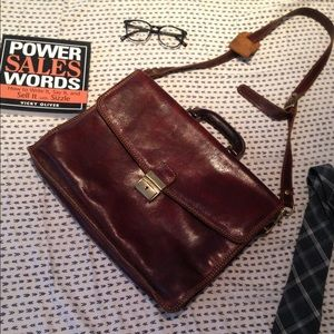 J. Crew Other - FLASH SALE Genuine Leather Briefcase Made in Italy