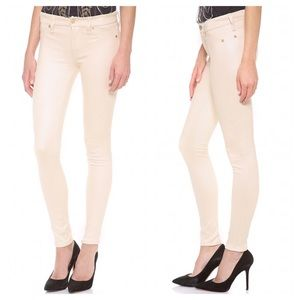 7 for all mankind faux suede skinnies