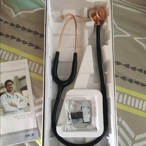 Black rose gold stethoscope