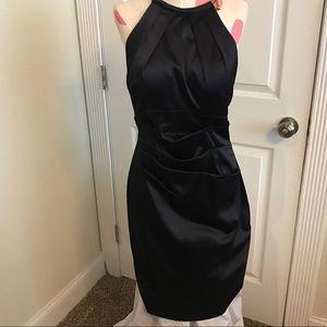 ELIZA J Satin Halter Cocktail Dress