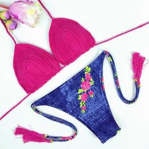 LF Other - ❣️🎊FLASH SALE🌈Rose Crochet Bikini Two Piece