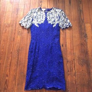 Beaded, Sequin Silk Vintage Dress