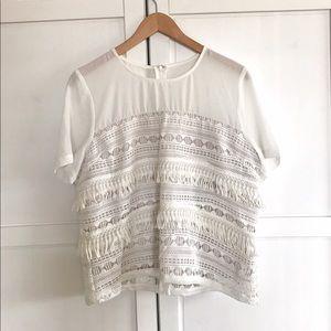 Greylin Tops - NWT Greylin - Anselma White Crochet Top