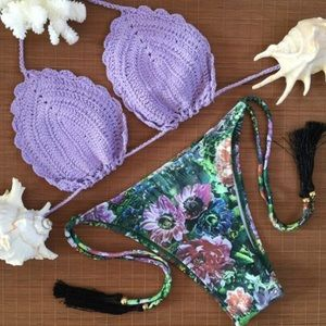 LF Other - FLASH SALE💦💜Sexy Purple Crochet Bikini Set💦💜