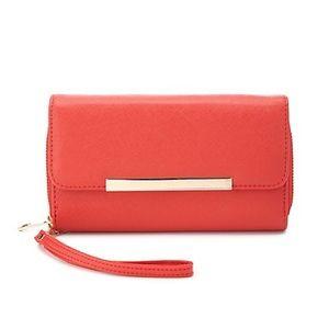 Brand New Doubled Zipper Wristlet Wallet
