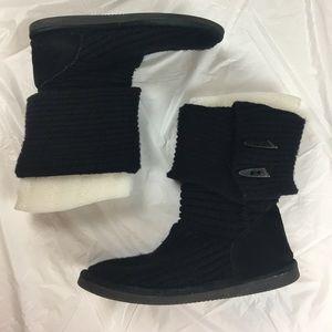 BearPaw Shoes - Bearpaw Black Knit Boot