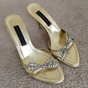 Steven by Steve Madden Shoes - Steven by Steve Madden heeled sandals gold sz 7.5