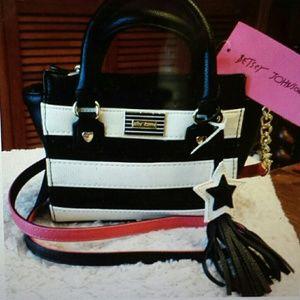 Betsy Johnson  Handbags - Betsy Johnson NWT Sequined Mini Satchel