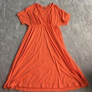 White Stag Orange Midi Dress