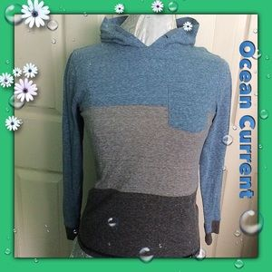 Ocean Current Tops - Ocean Current / Pullover with Hood / Size Medium
