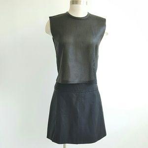 Free People Dresses & Skirts - NWT Free People Black Vegan/ Faux Leather Skirt