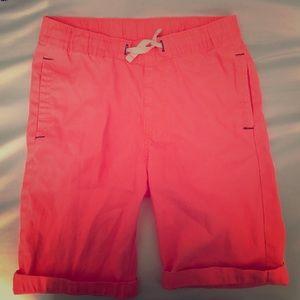 Salmon colored H&M boys shorts