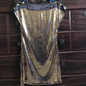 Apple Bottoms Dresses & Skirts - Size Small Apple Bottoms Gold Sequenced Dress