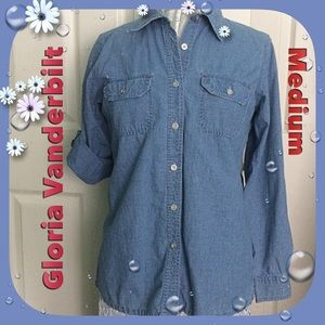 Gloria Vanderbilt Tops - Gloria Vanderbilt / Medium / Button Down Shirt