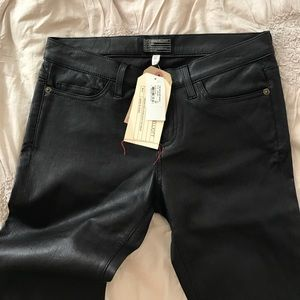 Current Elliot leather skinny pants, NWT