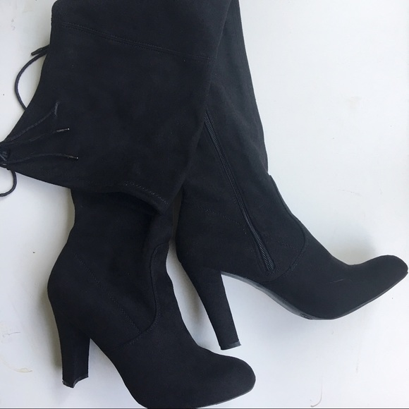 b60af53b298 Journee Collection Shoes - Journee Collection Maya Faux Suede Over Knee  Boots