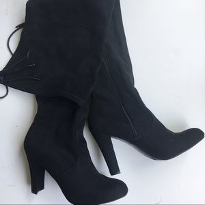 Journee Collection Shoes - Journee Collection Maya Faux Suede Over Knee Boots