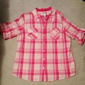 croft & barrow Tops - Plaid button up shirt