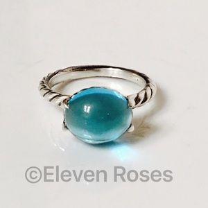 David Yurman Jewelry - David Yurman Blue Topaz Color Classics Ring