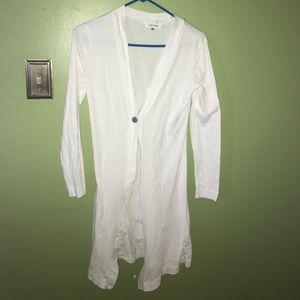 Calvin Klein white cardigan