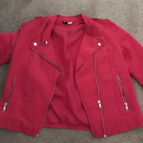 Jackets & Blazers - Hot pink suede jacket