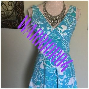New York & Company Dresses & Skirts - Blue New York & Co. Floral Dress Size 4