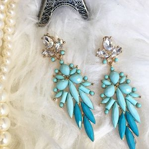 Jewelry - Teal Dream statement earrings blue