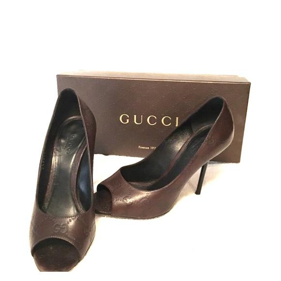 Gucci Shoes | Gucci Peep Toe Pumps