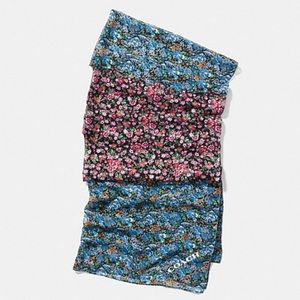 NWT Coach Floral oblong scarf
