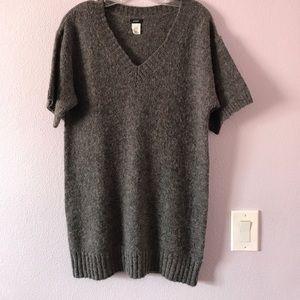 Gray J.Crew sweater dress