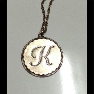 """John Wind Jewelry - John Wind """"K"""" Initial Necklace"""