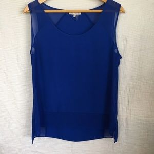 1. State Tops - 1. State Sheer Blue Tank