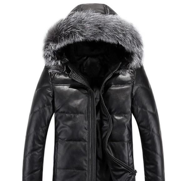 c9604cf96 AWANI Women's leather winter coat NWT