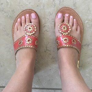 Pink and gold Palm Beach Sandal Co. sandals