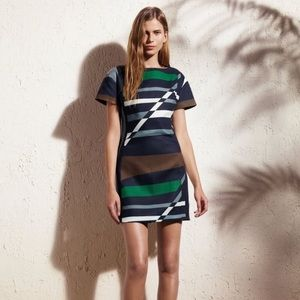 Derek Lam Dresses & Skirts - Derek Lam patterned color block Linen Sheath dress