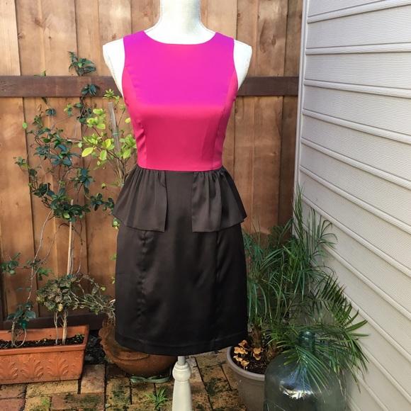 Fuchsia and Black Dresses