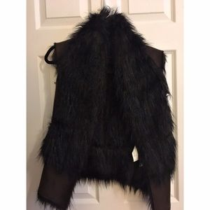 Super cute faux fur and suede Zara vest