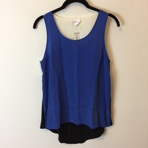 Parker Tops - NWT Parker Silk Cut Out Blouse Sleeveless Top