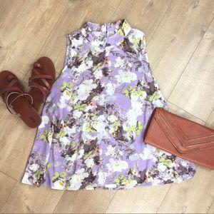 Peach Love California Tops - Lilac 💜 Floral Swing Top