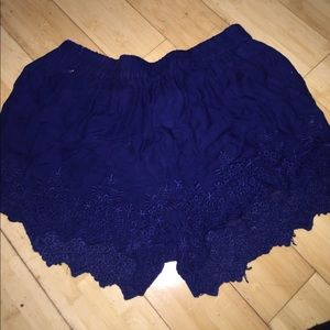 Zara flowy crochet shorts