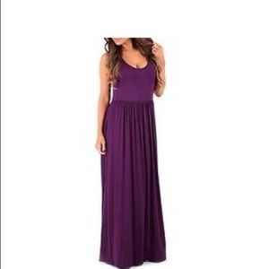 Rags and Couture Dresses & Skirts - Women's Ruched Maxi Dress - Eggplant