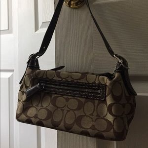 Coach brown n beige small bag