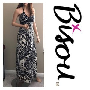 Bisou Bisou Dresses & Skirts - Black & White Paisley Maxi