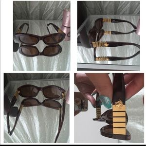 Versace sunglasses brown and gold
