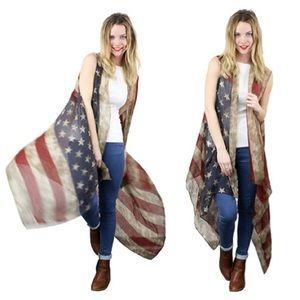 Accessories - Vintage American Flag Vest/ BOHO FESTIVAL