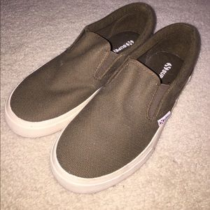 Superga Shoes - Army Green Superga slip on sneakers size 38/8 NWOT